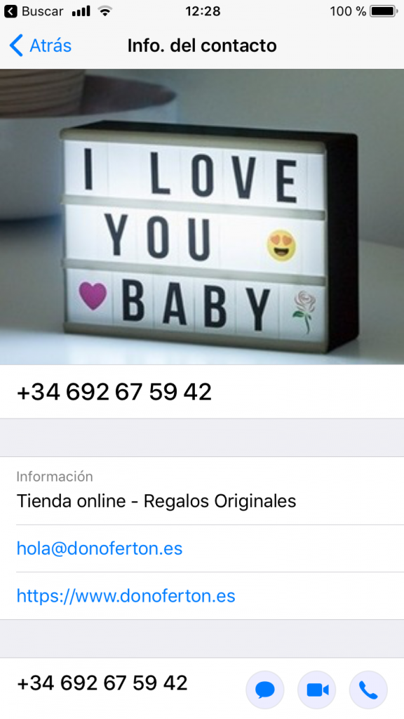 perfil whatsapp business de Don Ofertón
