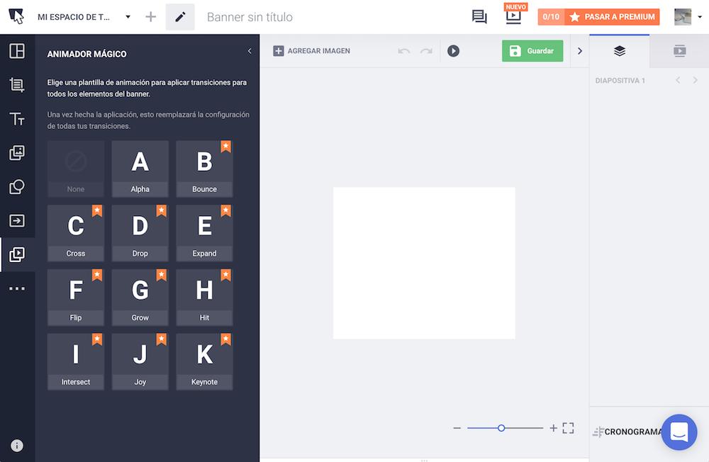 Bannersnack creador de banners HTML 5 para diseñadores